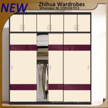 Zhihua High Glossy Customized Wardrobe portas de madeira deslizantes