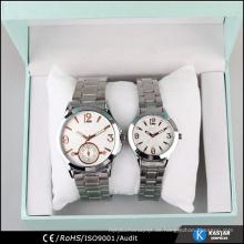 Entwerfen Sie Ihre eigene Uhr kundenspezifisches Firmenzeichen, vogue Paarliebhaber Armbanduhr