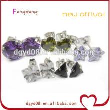 Mode piercing bijoux en acier inoxydable zircon stud stud / boucle d'oreille fantaisie