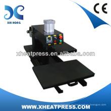 Regulador de ar Monitorado, Shuttle Heat Platen T-shirt Máquina de pressão pneumática térmica