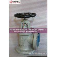 Válvula de globo de ángulo de hierro dúctil anti corrosión