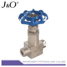 Válvula de aguja para instrumentos de aire de tubería de acero inoxidable