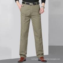 Pantalon de costume droit pour hommes d'affaires de style nouveau