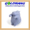 Cute Animal Tea Infuser Hippopotamus Silicone Tea Filter