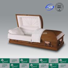 LUXES Großhandel amerikanischen hölzernen Schatullen für Beerdigung