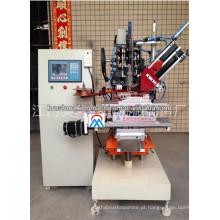 máquina de perfuração automática do computador do CNC de 3 linhas centrais para a vassoura e os tipos das escovas