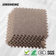 alfombrilla de enclavamiento de espuma de felpa suave promocional antideslizante eva, alfombras de piso no tóxico eva para niños