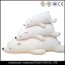 Stuffed mini super soft plush toy crawling polar bear