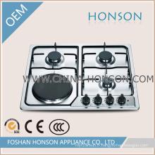 Cuisinière Cuisinière électrique à gaz en acier inoxydable