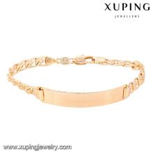 74626 xuping nueva moda 18k pulsera de mujer bañada en oro