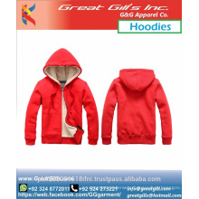 Gym Sports Winter red Hoodie for men and women kids