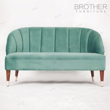 Conjunto de combinaciones de colores tapizados en el salón para sofás de madera