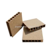 Material de pinho Aglomerado de núcleo oco para porta / painel de aglomerado tubular núcleo de porta / aglomerado para construção