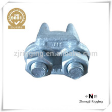 Type JIS galvanized malleable quick locking wire rope clips rigging