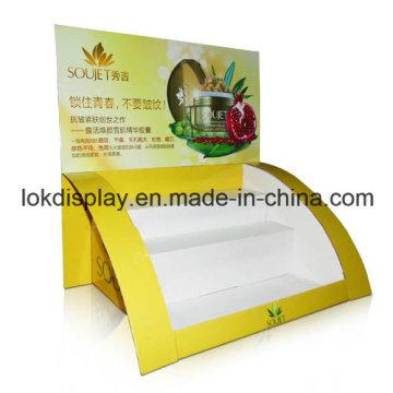 Pantalla de punto de venta de cartón, estante de mostrador de mostrador cosmético