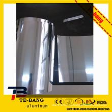Lámpara de parrilla brillantes brillantes espejo de papel de aluminio zhengzhou fabricante de aluminio bobina / hoja / hoja / círculo