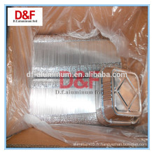 Type de récipient et boulangerie Utilisez un conteneur en aluminium lisse en aluminium