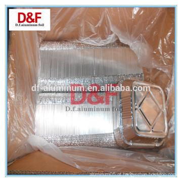 Tipo de recipiente e cozedura Use o recipiente de folha de alumínio de parede lisa