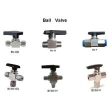 Válvula de bola flotante de alta presión de 3 vías de 3 vías