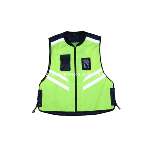 High visibility traffic safety vest
