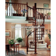 Corrimão de carvalho vermelho excelente decorativo romano pilar de madeira da escada