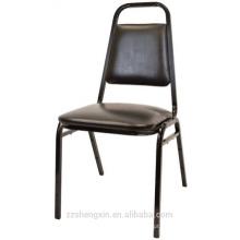 Cadeira de pilha comercial com almofada grossa
