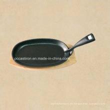 Utensilios de cocina de hierro fundido Sizzler Pan