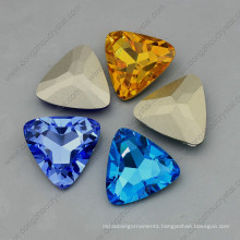 Triangle Shape Ab Color Crystal Point Back Fancy Stone