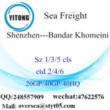 Shenzhen Port Sea Freight Frakt till Bandar Khomeini