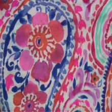 Flor de anacardo impresa con tela de algodón liso