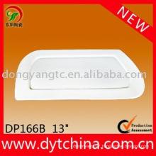 13 Inch ceramic plain white plate
