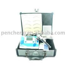 Permanent Makeup LCD Tattoo Kit Gun Machine Ink Pet Vet