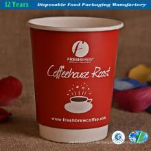 Doppelwandige Kaffeetasse mit Deckel