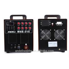 Mejor venta de alta frecuencia Mosfet TIG-315 AC / DC Argon TIG Soldador de aluminio portátil AC eléctrica tig 315 pulso de la máquina de soldadura