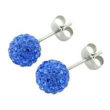 Glue Clay Colorful Stone Earring Stud