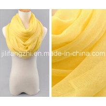 100 % spun Polyester High Twist Voile Greige Stoff für Schal