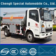 8000liters leves 6wheels 4 X 2 do óleo combustível tanque caminhão