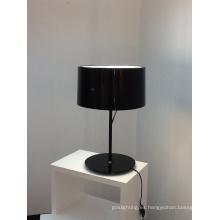 Decoración moderna de acero de carbono de aluminio Shinning iluminación de escritorio negro (2131T)