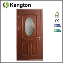 Diseños de puerta de madera única de lujo (puerta de madera)