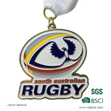 Customized Bronze Stamping Soft Enamel Rugby Competition Award Medals