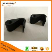 Custom made cnc machining PP plastic prototype with black painting