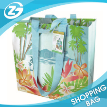 Super Strong Laminated PP Woven Reusable Shopping Bag, Extra Large Shopping Tote from Recycled Plastic with Reinforced Nylon