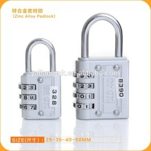 High Quality Zinc Alloy Combination Padlock Baggage Luggage Number coded padlock