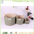 Jute Cotton Waterproof Toy Organizer colorful Storage baby clothing storage organizer bag