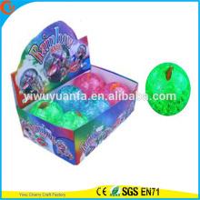 Высокое качество дети'gift светодиодные вверх резиновый 100мм мигающий рыба воде надувной мяч