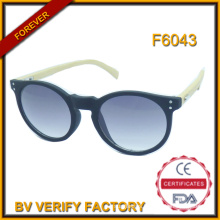 F6043 Cheap Handmade and Fashionable Plastic Frame Bamboo Temple Sunglasses