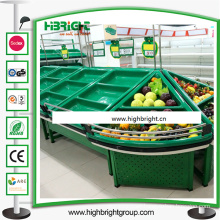 Acrylic Double Sided Fruit and Vegetable Display Stand