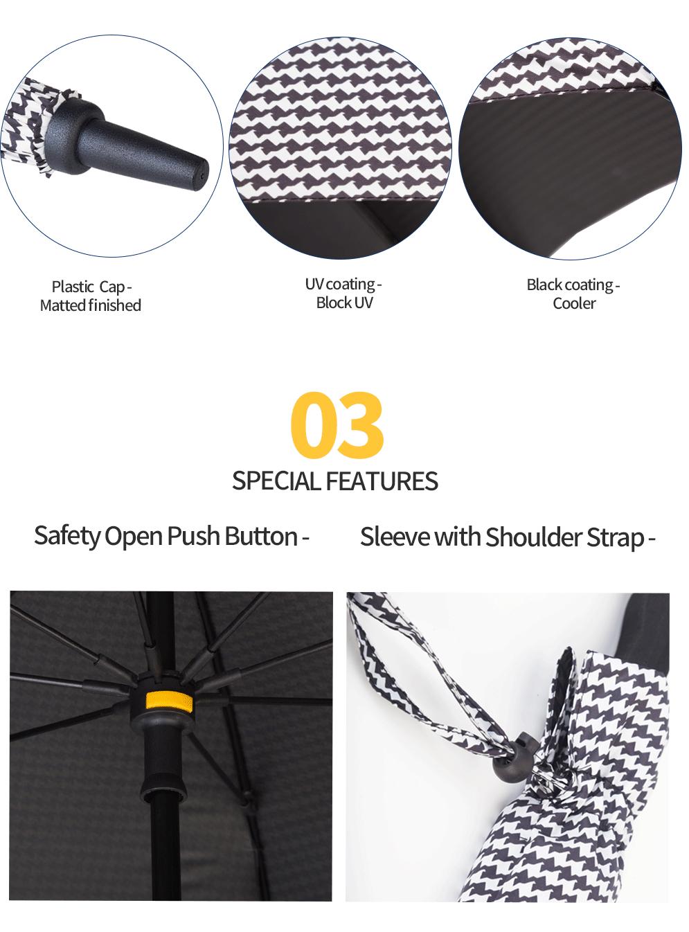 Black Coating Golf Umbrella