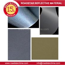 Medio ambiente gris reflectante pvc espuma cuero sintético