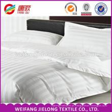 tecido de algodão branco da listra do cetim para o uso do hotel Tecido de algodão da listra do cetim branco e do hotel 100% tecido de algodão